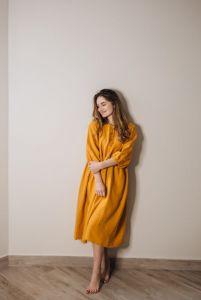 Єрьоменко Анастасія Жіноча сукня з натурального вареного льону