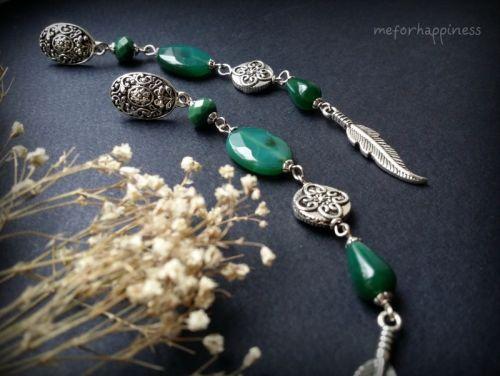 Бледно-зеленые серьги из агата