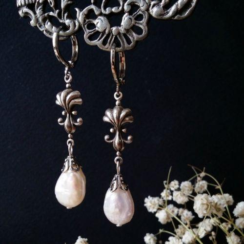 Сережки з перлами