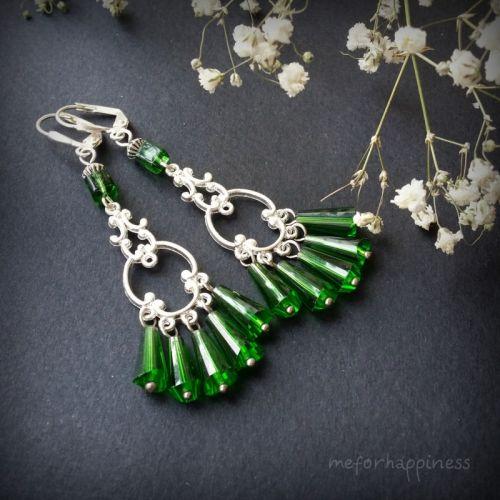 Ярко-зеленые серьги