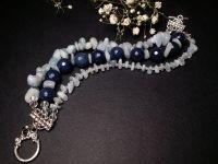 Голубий синій браслет