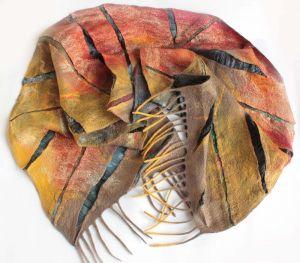 Scarves Валяний шарф ЗОЛОТІ ВІДБЛИСКИ