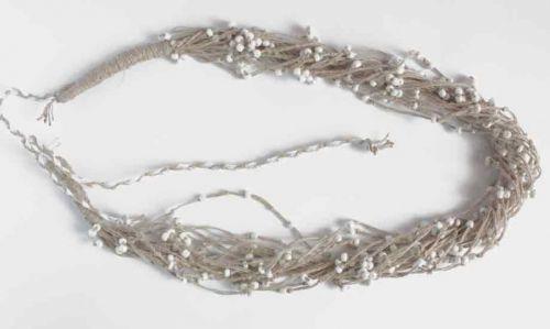 """Ожерелье из натурального льна """"Морозная роса"""""""