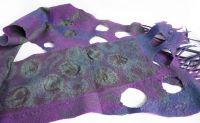 Валяный шарфик Фиолетовые сумерки