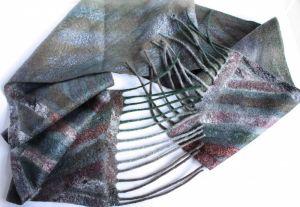 Мужские вышиванки Валяный мужской шарф КЛАССИКА
