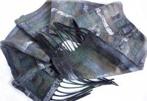 Мужские вышиванки Валяный мужской шарф ПОЛОСКИ