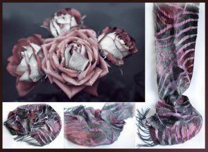 Модная женская одежда Валяный шарф ПЪЯНЯЩИЕ ЛЕПЕСТКИ
