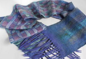 Мужские вышиванки Валяный мужской шарф УЛЬТРАМАРИН