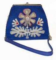"""Женская фетровая сумка с валяным декором и фермуаром """"Мечта"""""""