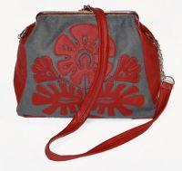 """Женская фетровая сумка с фермуаром """"Вытинанка"""""""