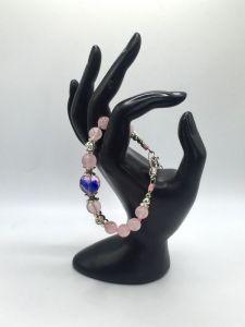 Браслеты ручной работы Браслет с розового кварца