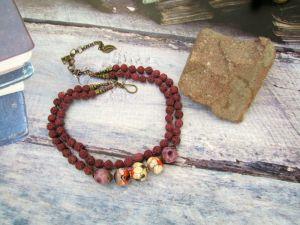 Ожерелье из керамики Осенние фантазии (20)