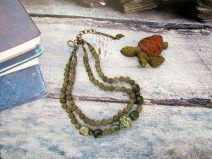Ожерелье из керамики Осенние фантазии (17)
