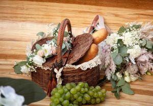 Разное Плетеная корзина Корзина для пикника, хлопковая ткань, кружево
