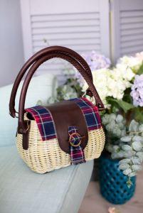 Филык Любовь Плетеная сумка в сочетании с кожей Авторская сумка