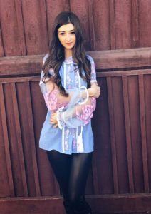 Borshchivyanka etno style Вышитая рубашка Голубая нежность