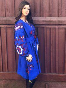Borshchivyanka etno style Платье Серебряный птица