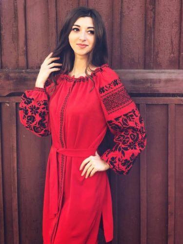 Платье Монохром Красное