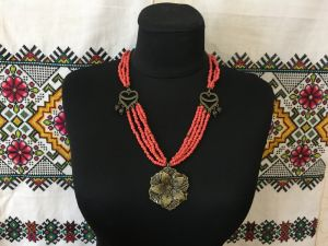 "Ганусяк Мария Ожерелье ""Цветок"""