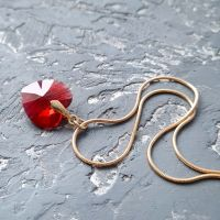 Swarovski и позолота кулон на цепочке сердце Scarlet