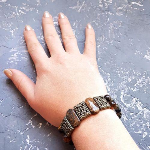Весенняя коллекция браслет из натуральных аммонитов