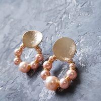 """Сережки з перлами """"Вісімка"""" подарунок на 8 березня"""