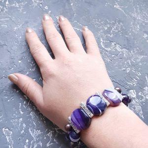 Гармаш Олена Веснаня колекція браслет з натуральних перлів та кварцу