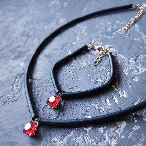 Jewelry sets Кольє - чокер та браслет з кристалом Swarovski колір на вибір