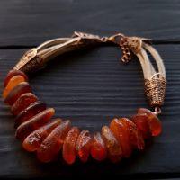 Браслет из натурального необработанного янтаря