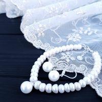Комплект прикрас з натуральних перлів та Майорки