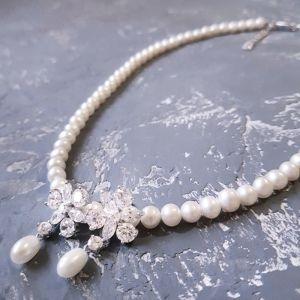 Гармаш Олена Комплект натуральні перли намисто сережки