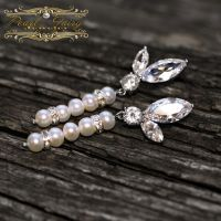 Серьги из натурального жемчуга и кристаллов циркона