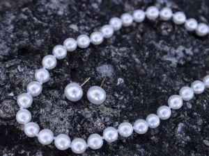 Серебро и натуральный жемчуг комплект