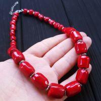 Ожерелье из крупных красивых кораллов