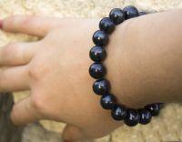 Браслет Огромный натуральный черный жемчуг