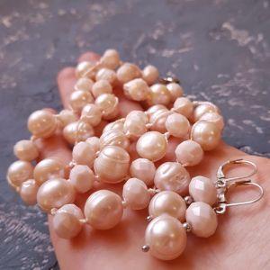 Гармаш Олена Комплект з великих натуральних перлів та кристалів