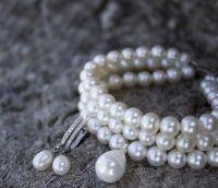 Натуральный жемчуг браслет свадебный трехрядный