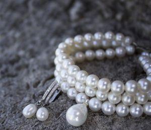 Браслети ручної роботи Натуральні перли браслет весільний трьохрядовий
