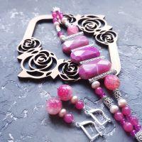 Весняна колекція комплект з натуральних агатів та перлів