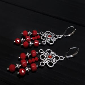 Earrings Сережки з натуральних коралів зі срібними застібками