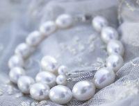 Роскошный  свадебный браслет крупный жемчуг