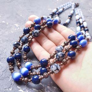 """Necklaces Весняна колекція прикрас """"Проліски"""" намисто з каменів та кристалів"""