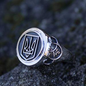 Серебряное кольцо Тризуб унисекс