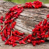 Ожерелье семирядное натуральные кораллы