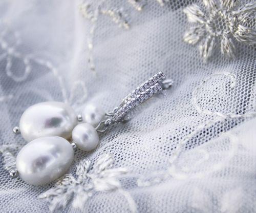 Серьги крупный пресноводный жемчуг бохо свадьба