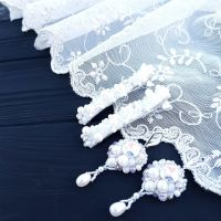 Комплект прикрас для нареченої сережки та заколки