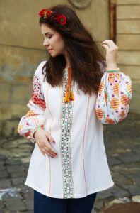 Одяг з льону Помаранчева