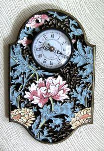 Часы настенные Цветы