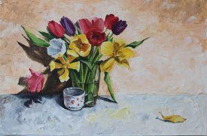 """Мальовані картини """"Тюльпани"""""""