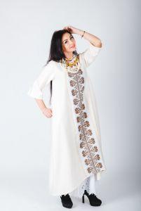 Платье бохо с элементами ручной вышивки
